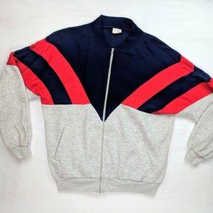 Vintage Colorblock Full Zip Jacket Large